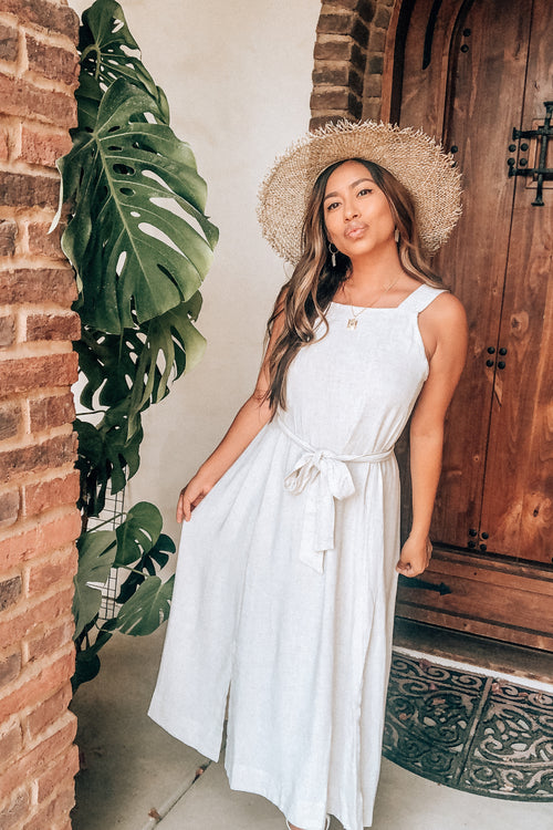 Elevated Oatmeal Linen Maxi Dress