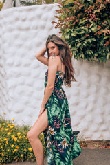 Tropical Breeze Palm Print Jumpsuit