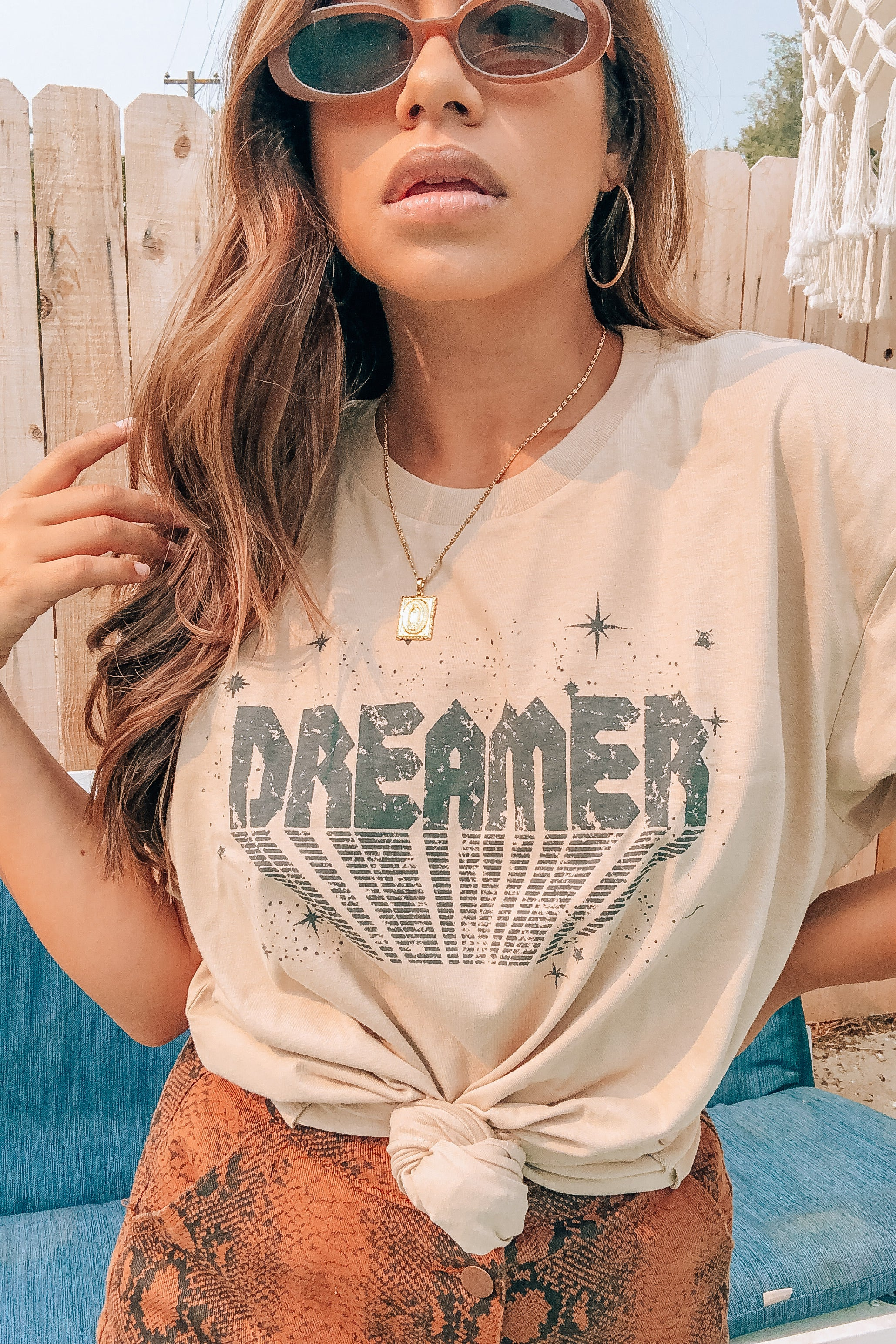 Nude Over-sized Dreamer Tee