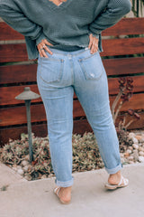 Eunina Mom Jeans Ankle Length