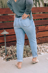 Eunina Extra High Waisted Distressed Jeans