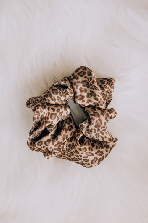 Wild Child Leopard Scrunchie