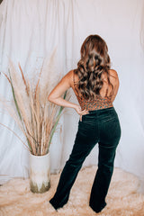 High Waisted Flared Corduroy Pants