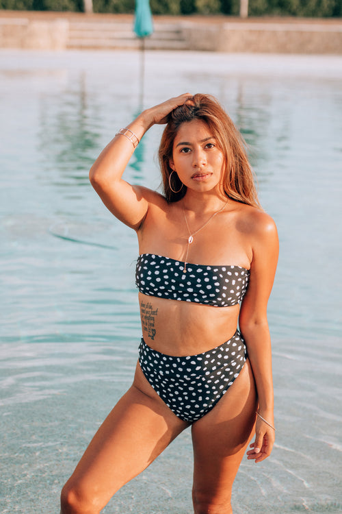 Pebble Beach Polka Dot Bikini Top