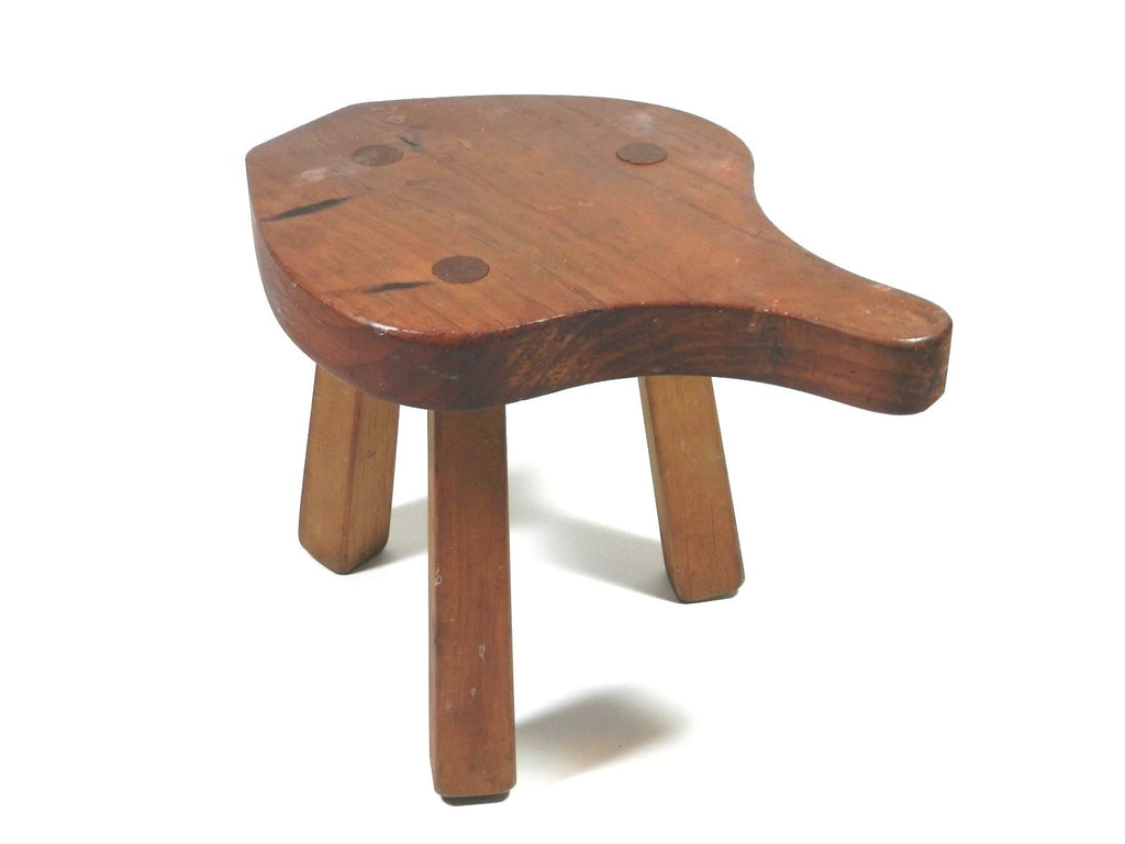 Sensational Vintage Wood Milking Stool 3 Legged Creativecarmelina Interior Chair Design Creativecarmelinacom