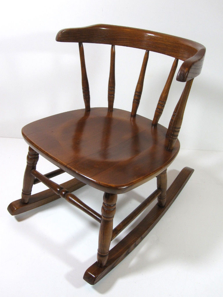 Antique Childs Wood Rocking Chair Mission Arts Amp Craft