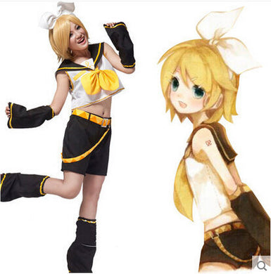 Vocaloid Anime Kagamine Cosplay Cloth Costume