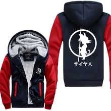 Dragon Ball Z Kid Goku Logo Thick Winter Hoodie 4 Colors