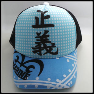 One Piece Blue Marine Snapback Baseball Anime Hat