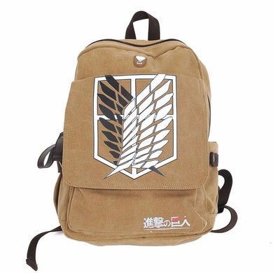 Attack On Titan Backpack School Bag Shingeki No Kyojin