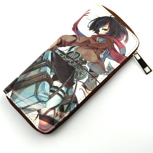 Attack On Titan Mikasa Ackerman Long Style Wallet Purse