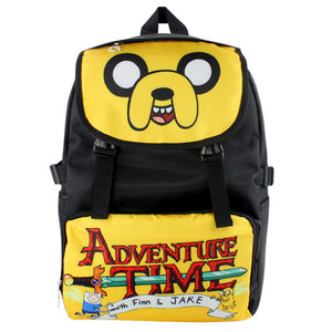 Adventure Time Yellow Nylon Waterproof Laptop Shoulder / Schoolbag Backpack