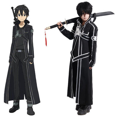 Sword Art Online Anime Kirito Cosplay Costume