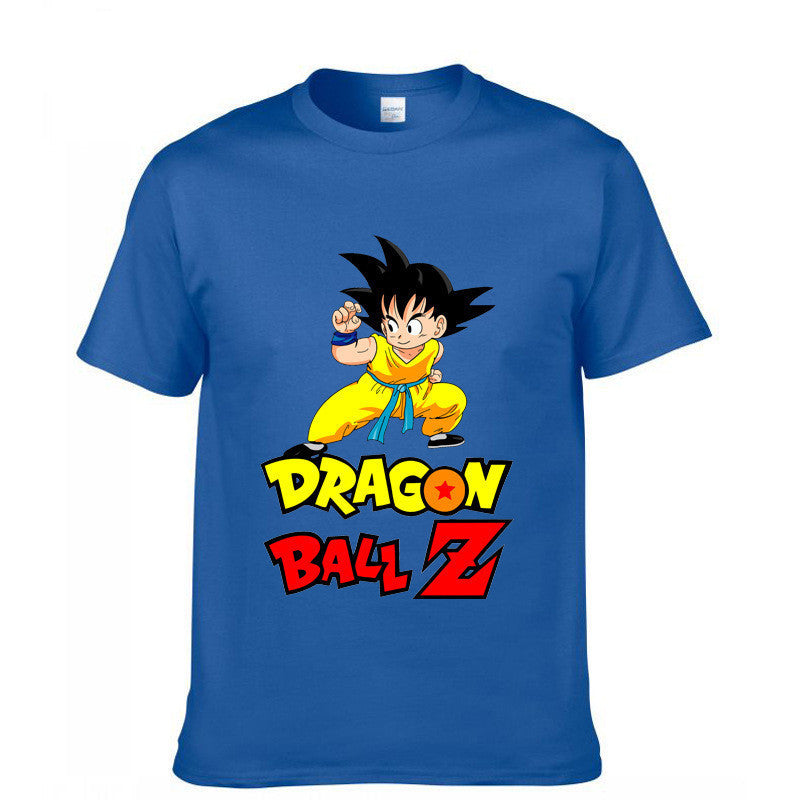 Dragonball Z Kid Goku Blue Short Sleeve T-Shirt