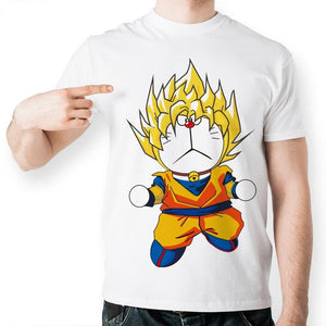 Dragon Ball Z Goku Funny Cat Short Sleeve Anime T-Shirt