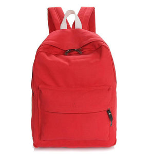 Fashion Red Unisex School Backpack Bag