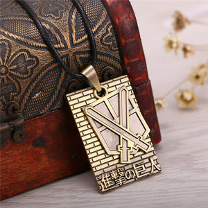 Attack On Titan Bronze Metal Alloy Necklace