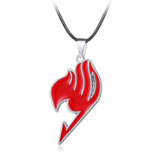 Fairy Tail Anime Red Logo Metal Necklace Pendant