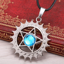 Black Butler Demon Contract Blue Crystal Necklace