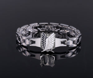 Attack On Titan Silver Metal Anime Bracelet