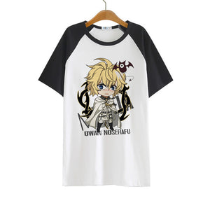 Seraph Of The End Mikaela Hyakuya Ladies Summer Fashion T-Shirt