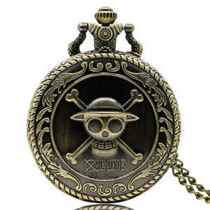One Piece Steam Punk Anime Pocket Watch