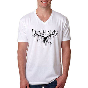 Death Note Short Sleeve V Neck T-Shirt