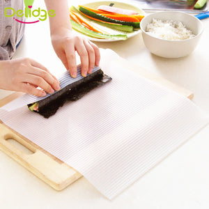 Sushi Roll Mold Mat  Japanese Food Sushi Rolling Roller Silicone  Rice Rolling Maker Washable Reusable Cake Roll Mold