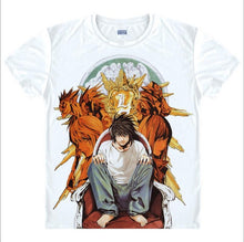 Death Note Japanese Anime T-Shirt L. Lawliet Kira Light Yagami 8 Styles