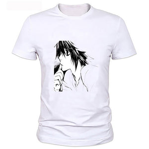 Death Note L. Lawliet Printed Anime T-Shirt