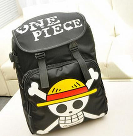 One Piece Anime Luffy Skull School Backpack