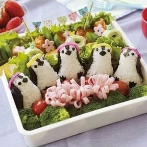 Creative DIY Cute Penguin Rice Sushi Mold to Improve Baby's Appetite Bento Tools Onigiri Mould Home Supplies
