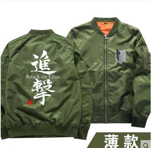 Attack On Titan Mens Cosplay Bomber Jacket Windbreaker