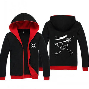 Anime One Puce Luffy Monkey D Hoodie Sweatshirt Jacket