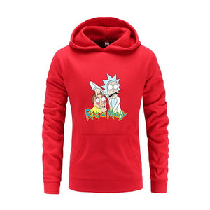 Rick And Morty Funny Print Hoodie