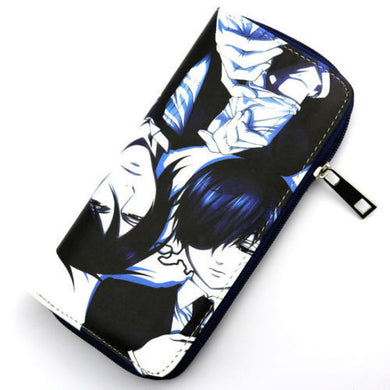 Black Butler Ciel & Sebastion Wallet Purse Colorful