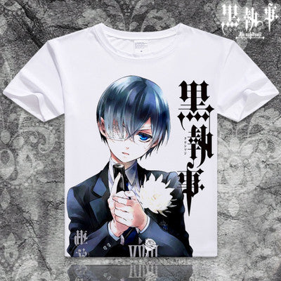 Black Butler Short Sleeve Anime T-Shirt V9