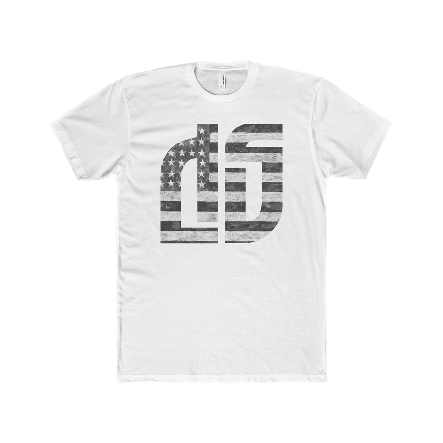 Disruptive Supplements - DS Logo with US Flag - Men's Premium Fit Crew T-Shirt - Disruptive Supplements