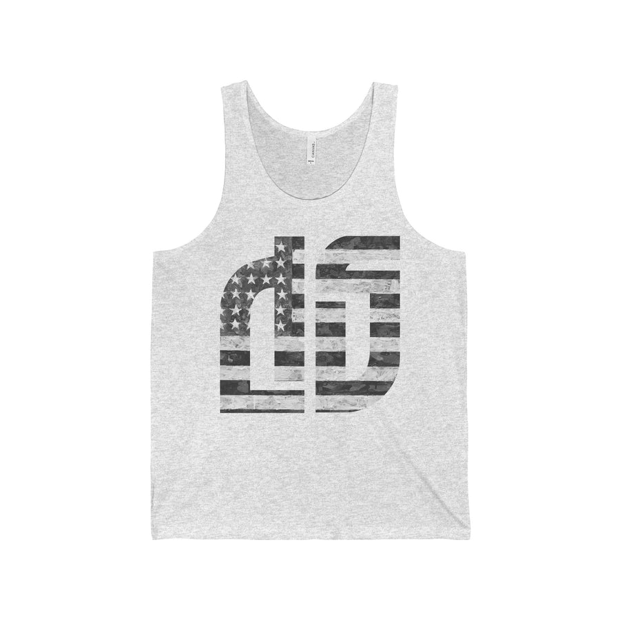 Disruptive Supplements - DS Logo w/ US FLag Unisex Jersey Tank - Disruptive Supplements