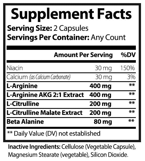 L-Arginine Vein Booster - Disruptive Supplements