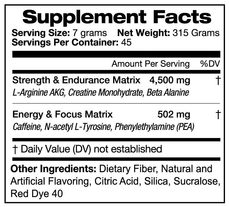 NOISE - Pre-Workout Fruit Punch - Disruptive Supplements