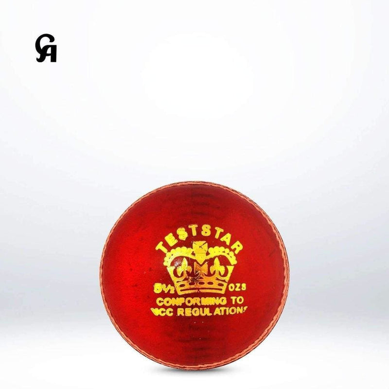 Ca Test Star Red Cricket Ball - BALL - 4 PCS LEATHER