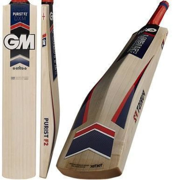 Cricket Bat Purist F2 DXM 303 GM | Mens Short Handle English Willow - BATS - MENS ENGLISH WILLOW