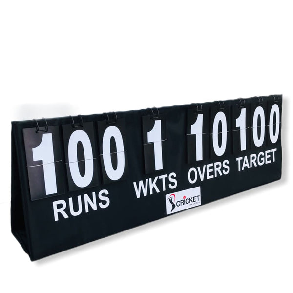 Cricket Portable Scoreboard Black With Carry Bag Multi Surface Placement - SCORE BOOKS