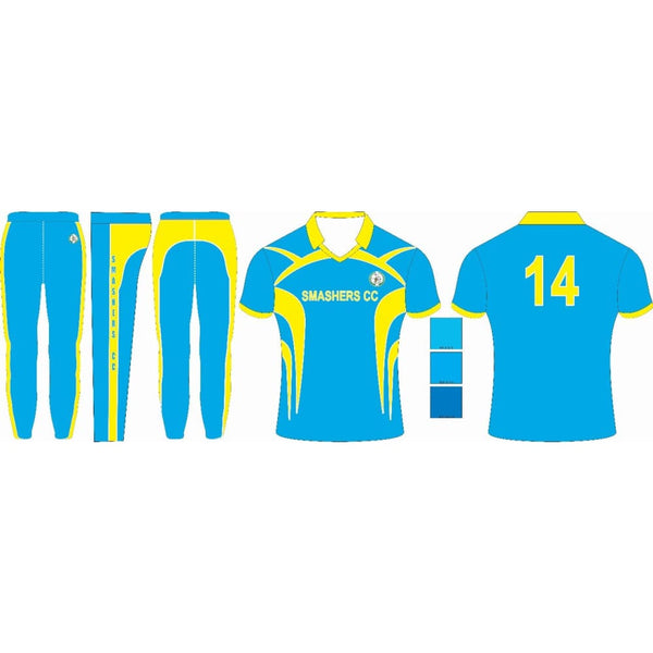 Cricket Shirt Jersey Color Uniform Customized Shirt Full Sublimation Blue - CLOTHING CUSTOM