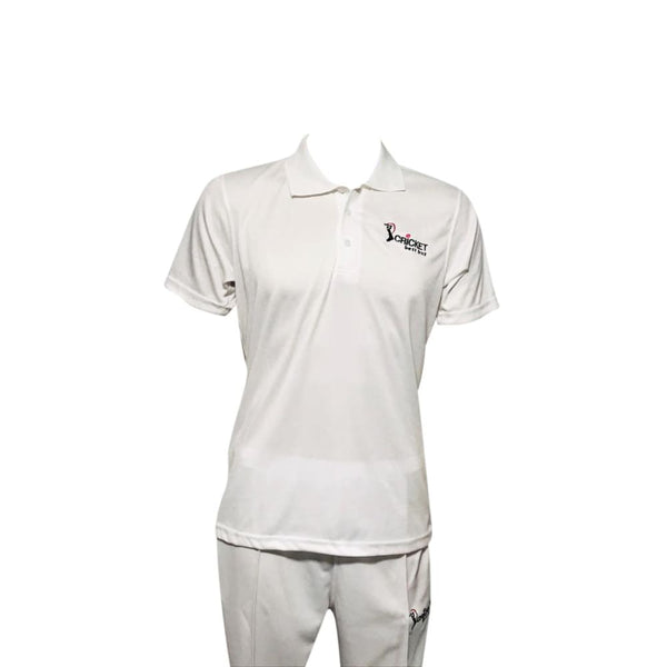 Cricket Shirt Jersey White Cool Maxx Fabric by CBB - CLOTHING - SHIRT