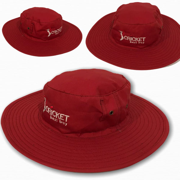 Cricket Sun hat Classic Traditional Style Sun Protection Red - CLOTHING - HEADWEAR