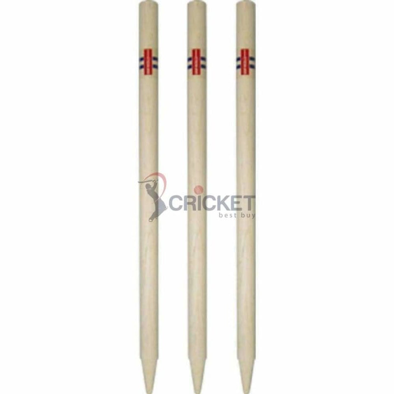 Cricket Wicket Stumps Youth Club Imported Ash Set of 3 with 2 Bails Gray Nicolls - STUMPS & BAILS