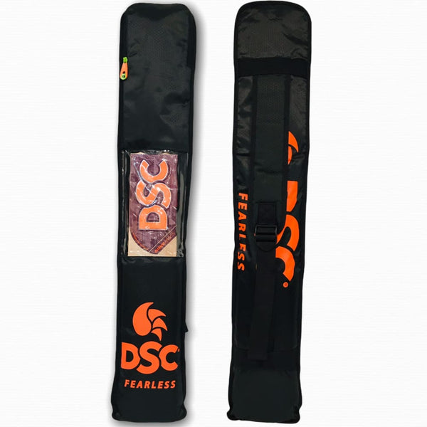 DSC Cricket Bat Cover Bag Full Length All-in-One Padded With Shoulder Carry Strap Orange - BAG - BAT COVER