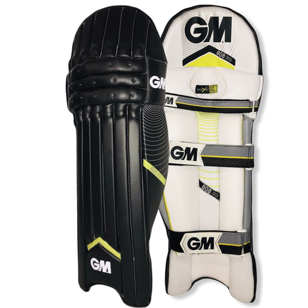 GM 808 Limited Edition Cricket Batting Pads Black - Men RH / Black - PADS - BATTING